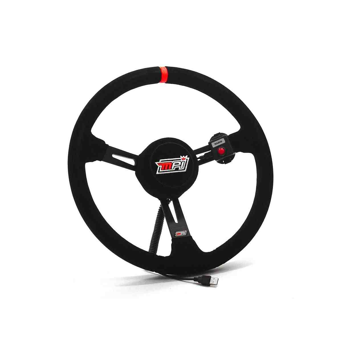 Max Papis 15-inch Oval Track Suede Wheel Kit with Direct-Drive Mounting Adapter