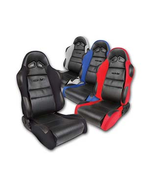Vinyl and Cloth Racing Simulator Seat with Sliders