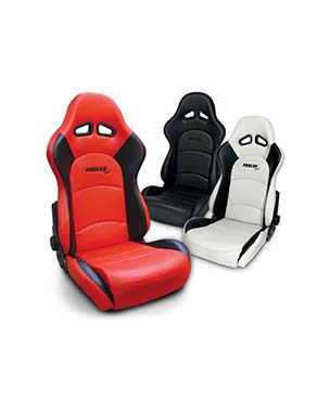 Vinyl Fiberglass Back Reclining Racing Simulator Seat with Sliders
