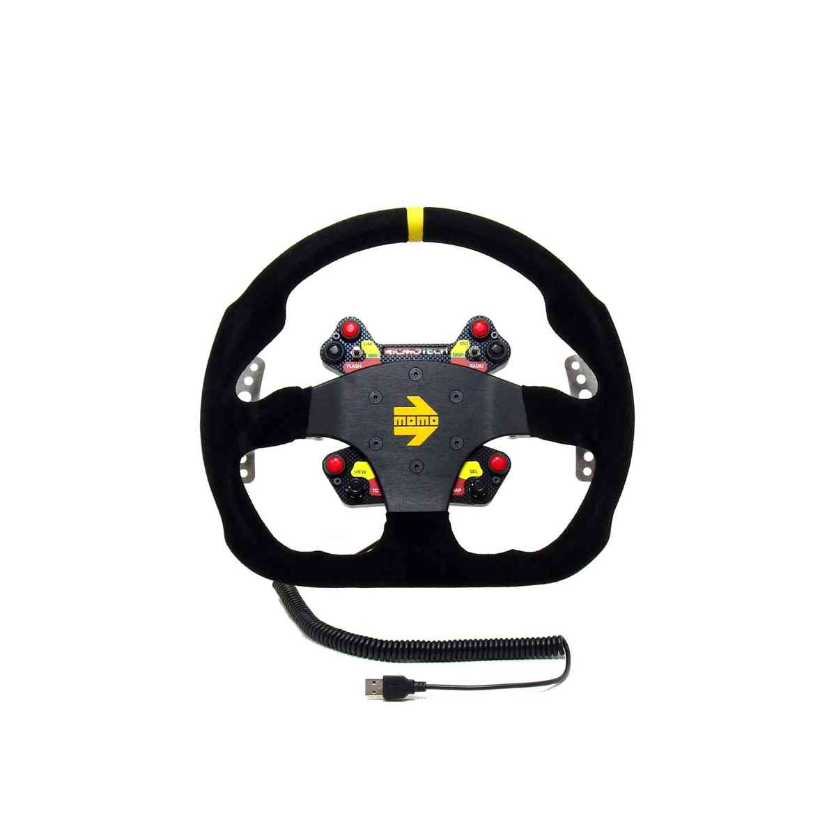 RealGear WHEELpro Momo MOD30 D-Shape Add-on Wheel for Direct-Drive Servos