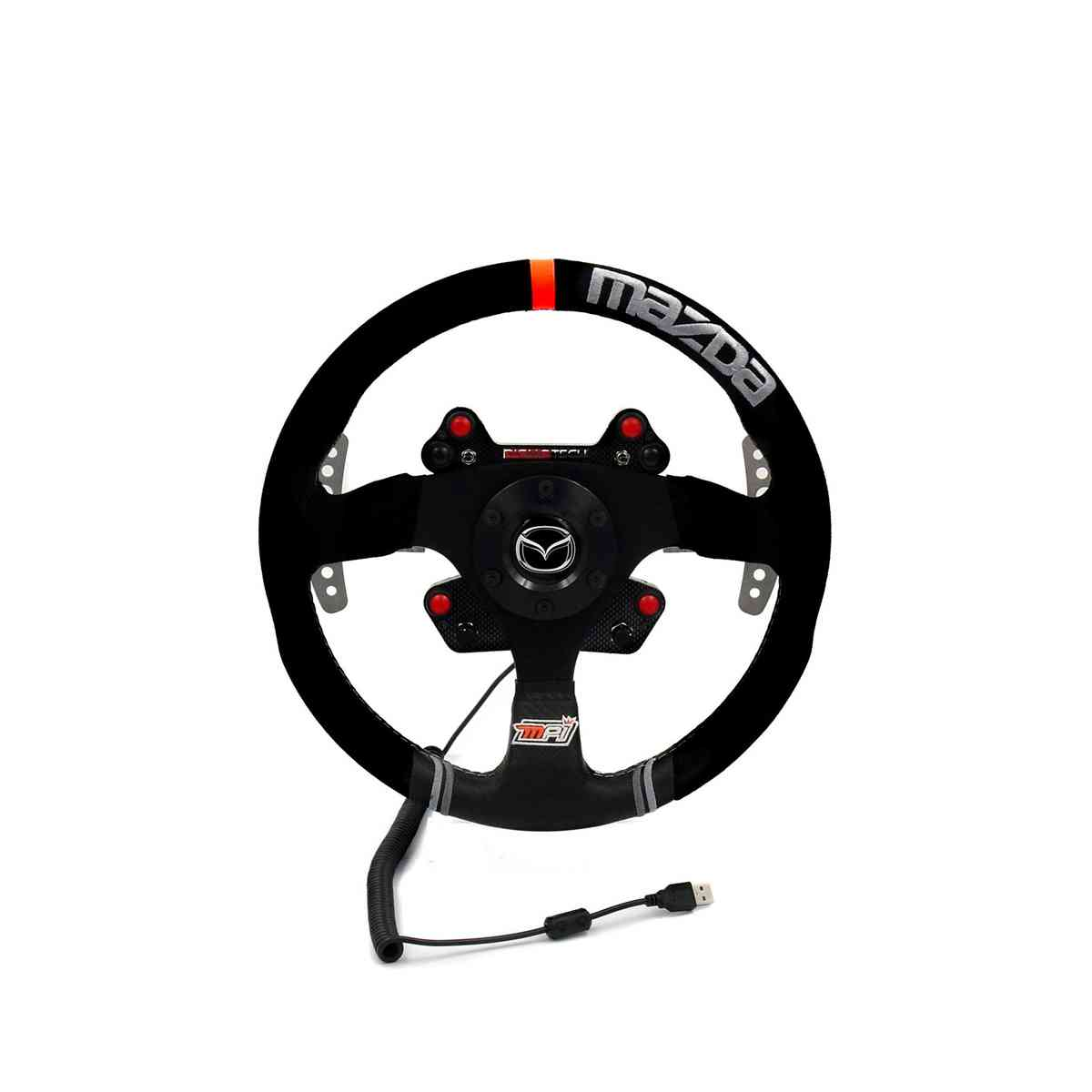 RealGear WHEELpro Mazda/MPI Alcantara Wheel for Direct-Drive Servos