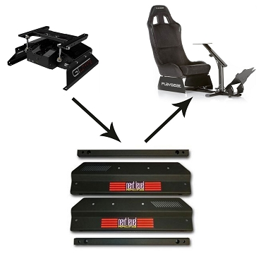 Next Level Racing Motion Adapter Brackets for Playseat Evolution