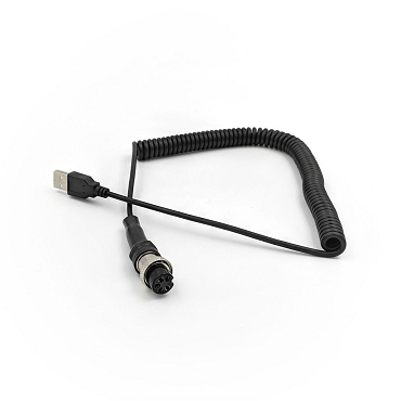 Replacement USB Coiled Cable for Rexing Wheel - 5 Pin